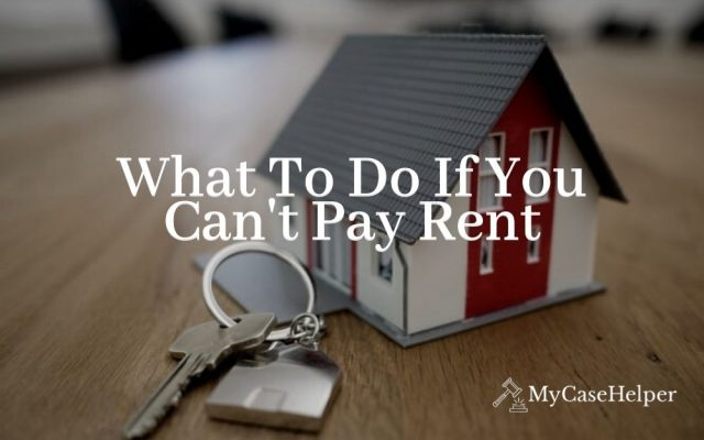 What to Do If You Can't Pay Rent