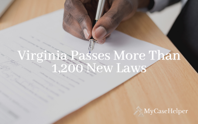 Virginia Passes More Than 1,200 New Laws